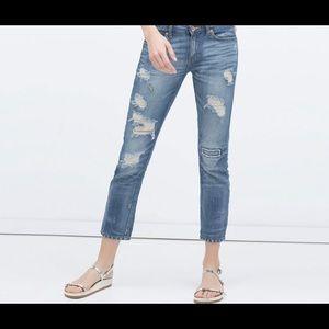 Zara Woman Distress Jeans